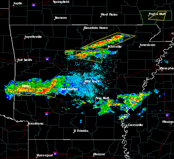 Radar Image for Severe Thunderstorms near Guion, AR at 3/12/2020 7:36 PM CDT