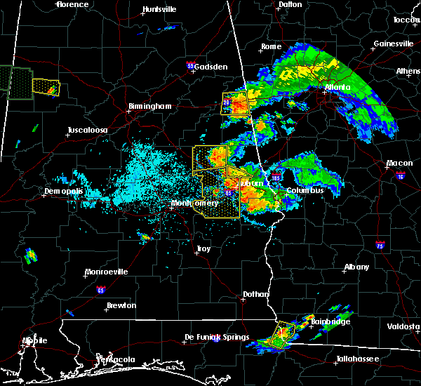 Radar Image for Severe Thunderstorms near Opelika, AL at 6/24/2015 7:36 PM CDT