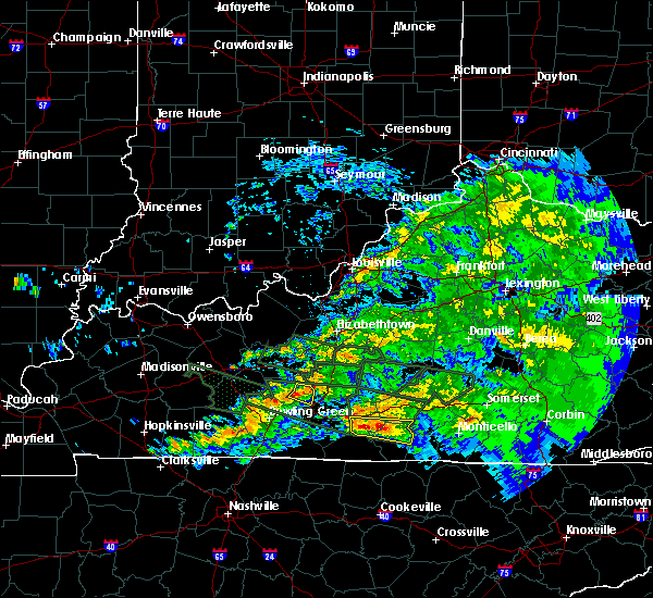 Radar Image for Severe Thunderstorms near Brownsville, KY at 3/12/2020 7:42 PM CDT
