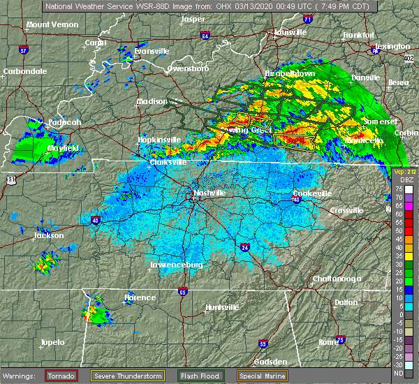 Radar Image for Severe Thunderstorms near Marrowbone, KY at 3/12/2020 7:53 PM CDT