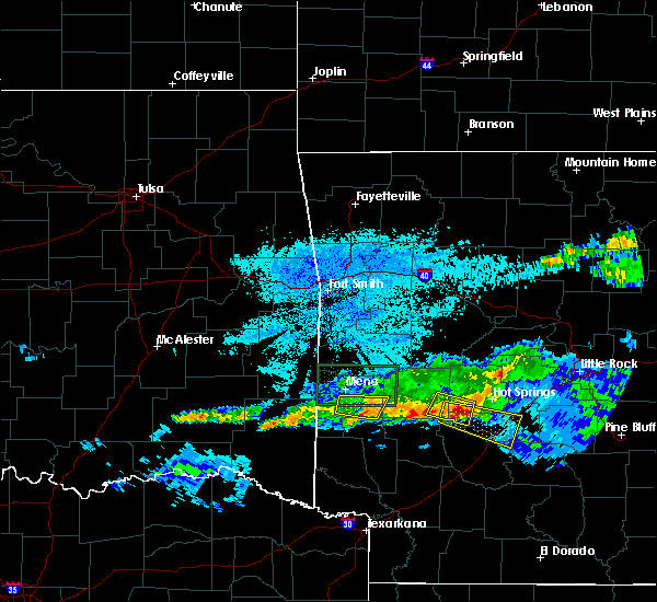 Radar Image for Severe Thunderstorms near Kirby, AR at 3/12/2020 8:00 PM CDT