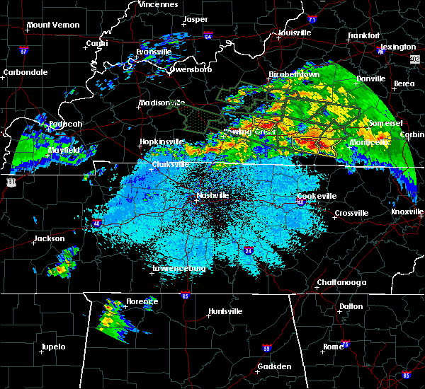 Radar Image for Severe Thunderstorms near Marrowbone, KY at 3/12/2020 8:14 PM CDT