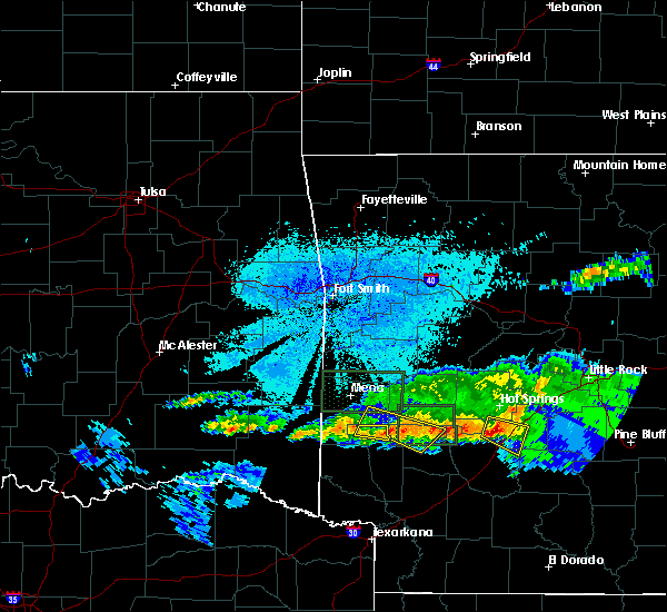 Radar Image for Severe Thunderstorms near Kirby, AR at 3/12/2020 8:33 PM CDT