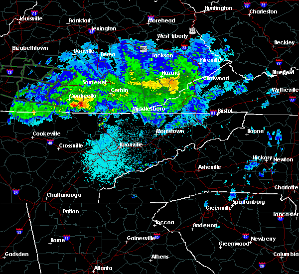 Radar Image for Severe Thunderstorms near Whitley City, KY at 3/12/2020 10:05 PM EDT