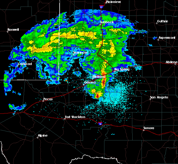 Radar Image for Severe Thunderstorms near Garden City, TX at 3/13/2020 1:23 AM CDT