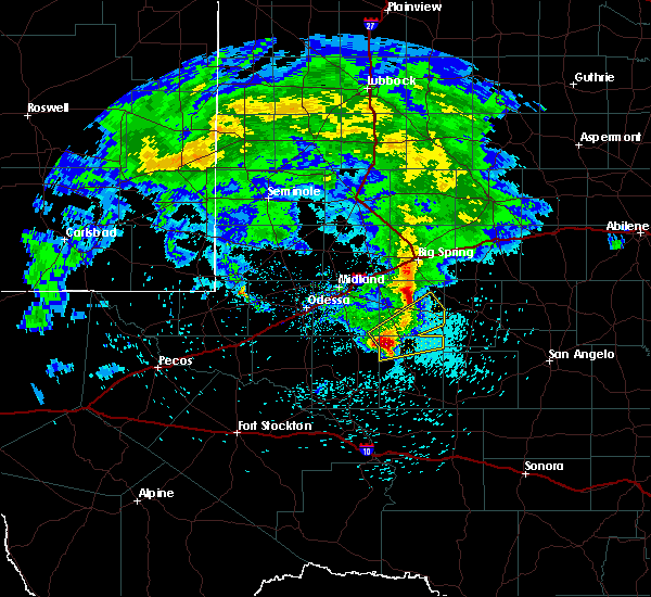 Radar Image for Severe Thunderstorms near Garden City, TX at 3/13/2020 1:38 AM CDT