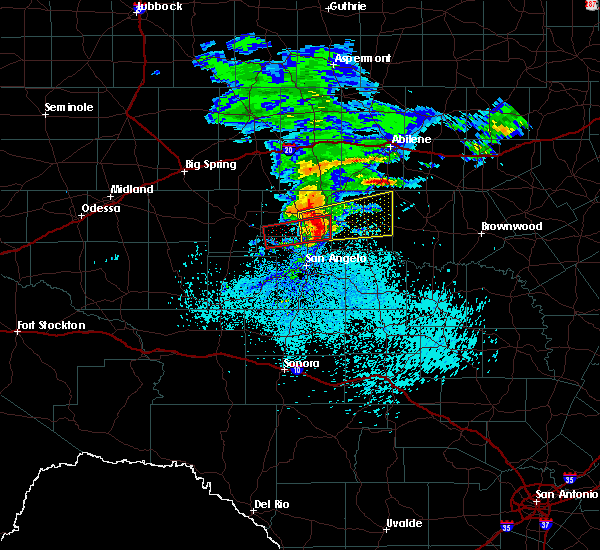 Radar Image for Severe Thunderstorms near Robert Lee, TX at 3/13/2020 3:14 AM CDT