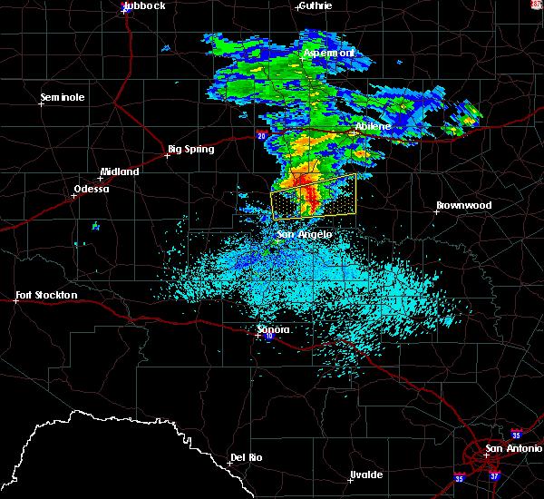Radar Image for Severe Thunderstorms near Ballinger, TX at 3/13/2020 3:32 AM CDT