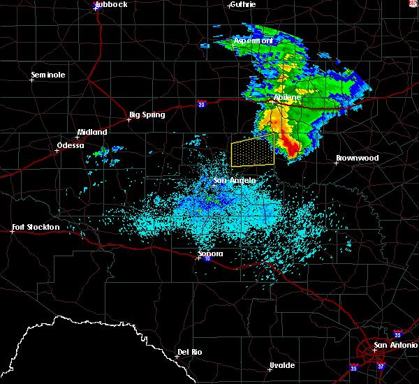 Radar Image for Severe Thunderstorms near Ballinger, TX at 3/13/2020 4:11 AM CDT