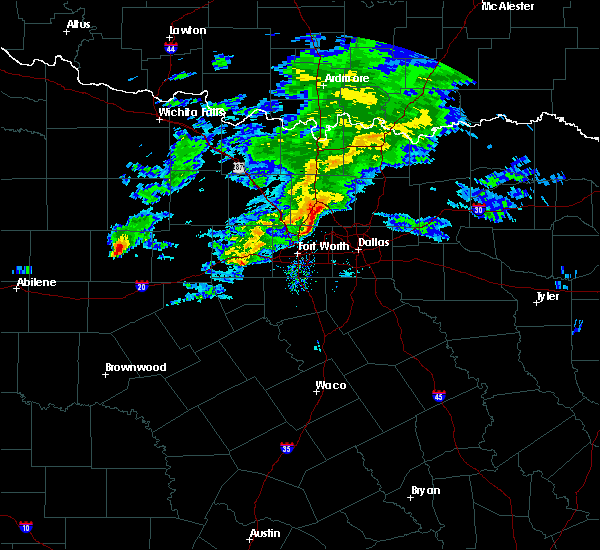 Radar Image for Severe Thunderstorms near Southlake, TX at 3/13/2020 10:32 AM CDT