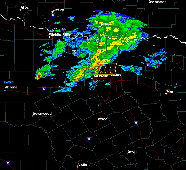 Radar Image for Severe Thunderstorms near Copper Canyon, TX at 3/13/2020 10:45 AM CDT