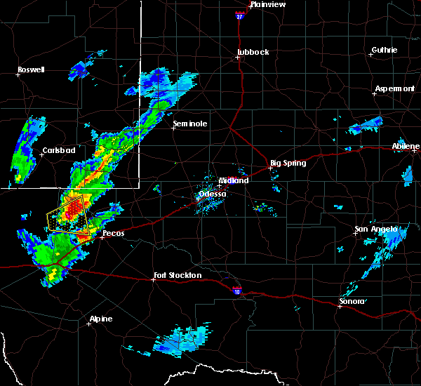 Radar Image for Severe Thunderstorms near Pecos, TX at 3/13/2020 7:40 PM CDT