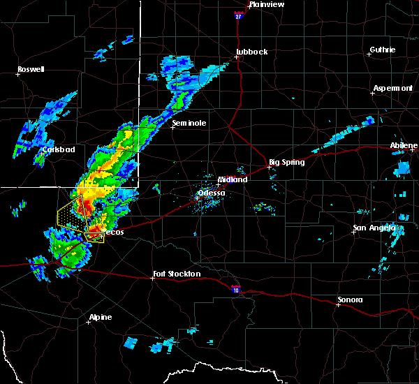 Radar Image for Severe Thunderstorms near Mentone, TX at 3/13/2020 7:58 PM CDT
