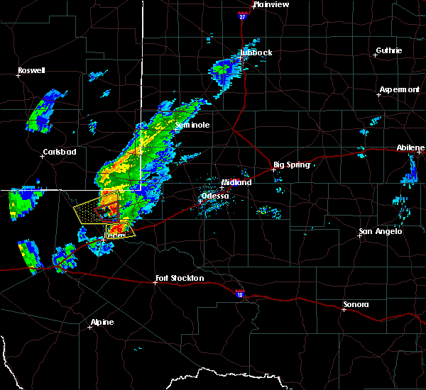 Radar Image for Severe Thunderstorms near Pyote, TX at 3/13/2020 8:27 PM CDT