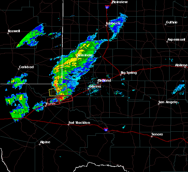 Radar Image for Severe Thunderstorms near Pyote, TX at 3/13/2020 8:52 PM CDT