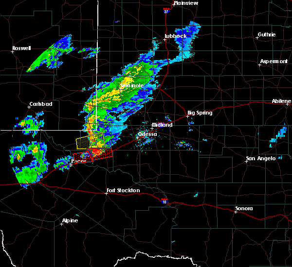 Radar Image for Severe Thunderstorms near Kermit, TX at 3/13/2020 8:58 PM CDT