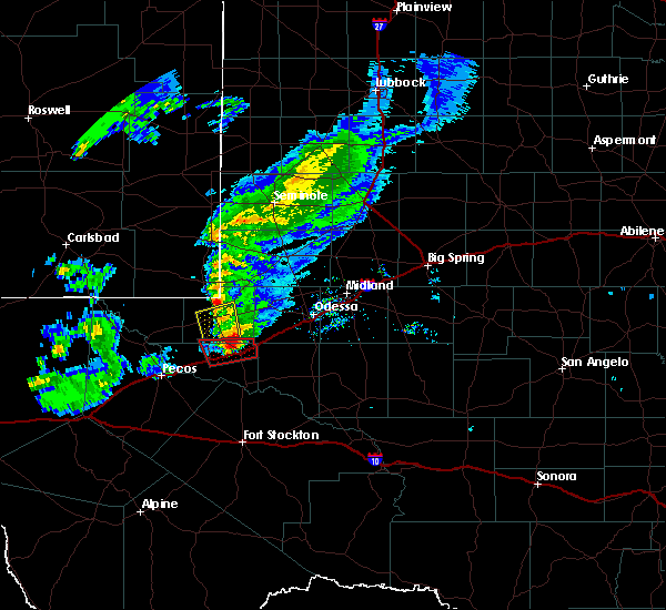 Radar Image for Severe Thunderstorms near Wickett, TX at 3/13/2020 9:07 PM CDT