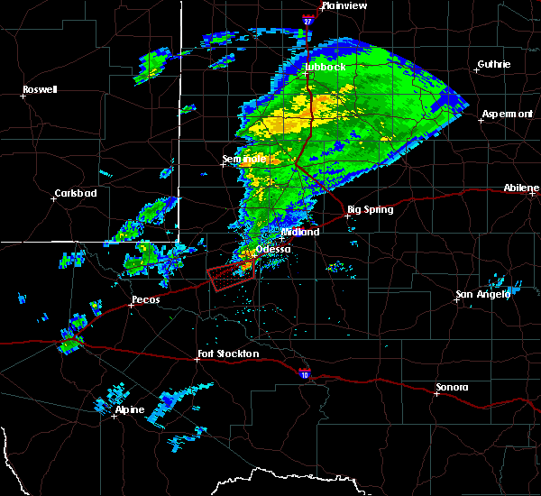 Radar Image for Severe Thunderstorms near Odessa, TX at 3/13/2020 10:06 PM CDT