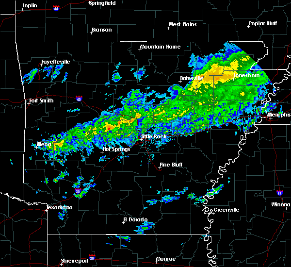 Radar Image for Severe Thunderstorms near Perryville, AR at 3/14/2020 5:46 PM CDT