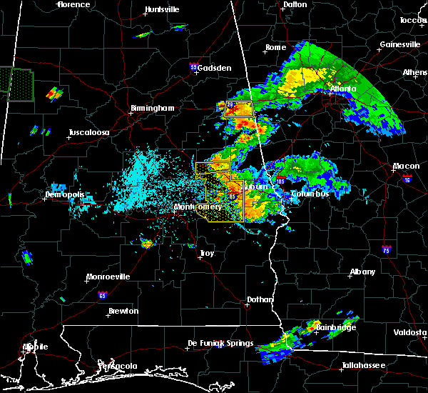 Radar Image for Severe Thunderstorms near Dadeville, AL at 6/24/2015 7:52 PM CDT