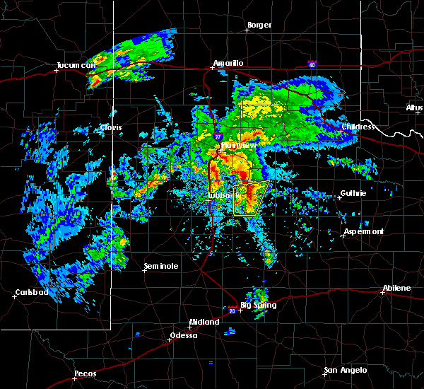 Radar Image for Severe Thunderstorms near Ralls, TX at 3/17/2020 10:50 AM CDT