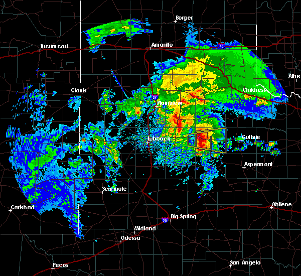 Radar Image for Severe Thunderstorms near Dickens, TX at 3/17/2020 11:45 AM CDT