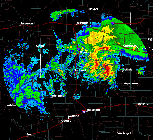 Radar Image for Severe Thunderstorms near Dickens, TX at 3/17/2020 12:09 PM CDT