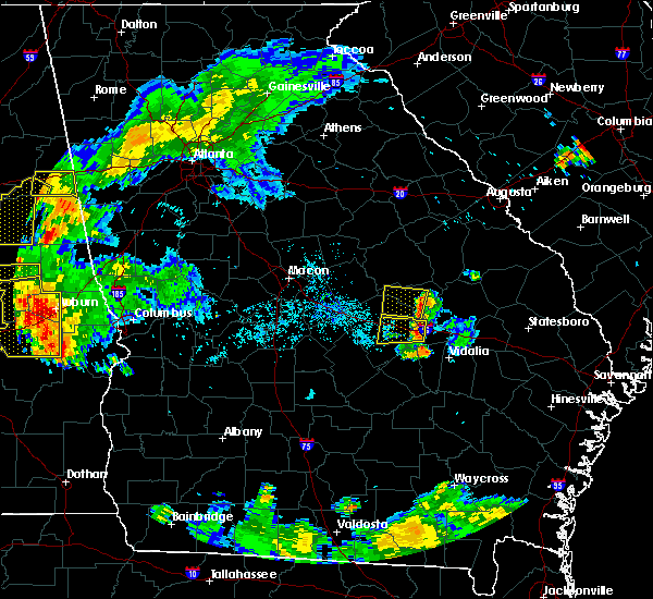 Radar Image for Severe Thunderstorms near Adrian, GA at 6/24/2015 9:01 PM EDT