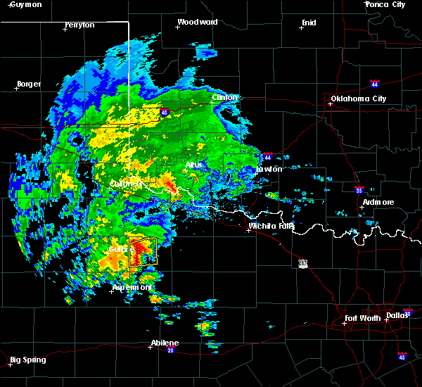 Radar Image for Severe Thunderstorms near Benjamin, TX at 3/17/2020 2:42 PM CDT