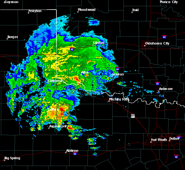 Radar Image for Severe Thunderstorms near Benjamin, TX at 3/17/2020 2:54 PM CDT