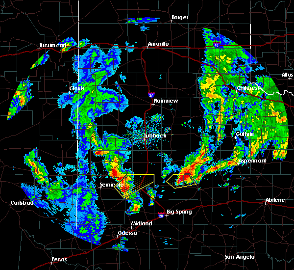 Radar Image for Severe Thunderstorms near Welch, TX at 3/17/2020 4:12 PM CDT