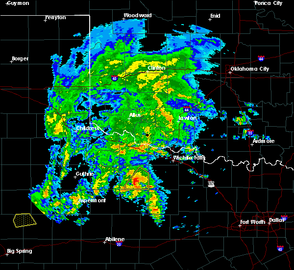 Radar Image for Severe Thunderstorms near Seymour, TX at 3/17/2020 4:26 PM CDT