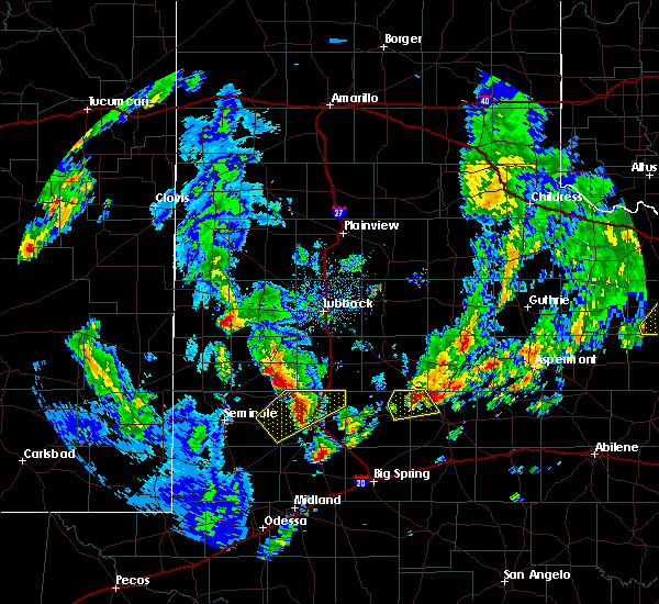 Radar Image for Severe Thunderstorms near Welch, TX at 3/17/2020 4:25 PM CDT