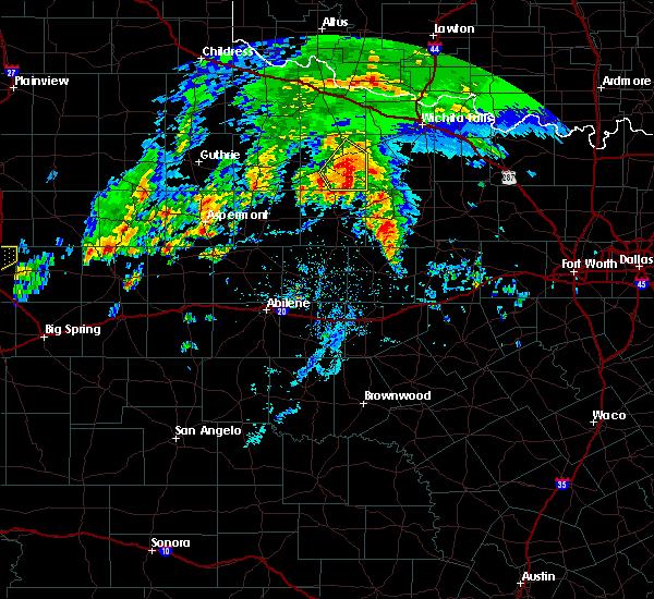 Radar Image for Severe Thunderstorms near Elbert, TX at 3/17/2020 4:38 PM CDT