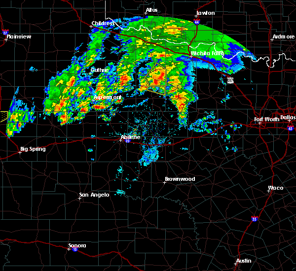 Radar Image for Severe Thunderstorms near Elbert, TX at 3/17/2020 4:50 PM CDT