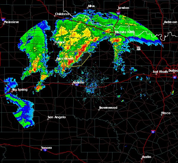 Radar Image for Severe Thunderstorms near Rochester, TX at 3/17/2020 6:19 PM CDT