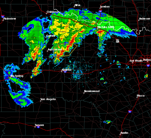 Radar Image for Severe Thunderstorms near Stamford, TX at 3/17/2020 6:32 PM CDT