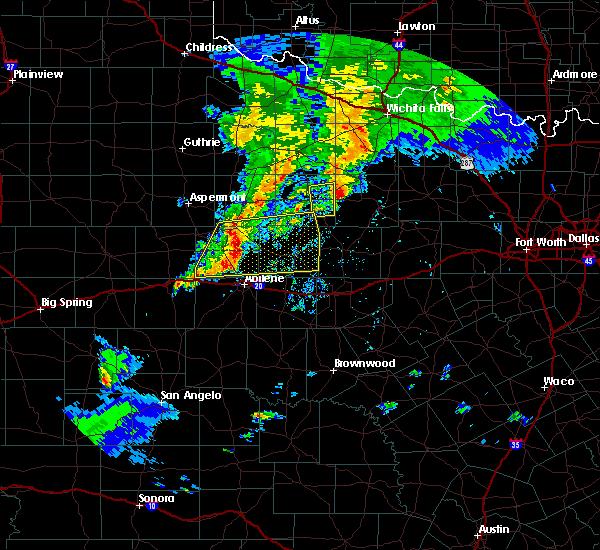 Radar Image for Severe Thunderstorms near Elbert, TX at 3/17/2020 7:59 PM CDT