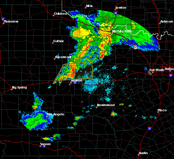 Radar Image for Severe Thunderstorms near Hawley, TX at 3/17/2020 8:13 PM CDT