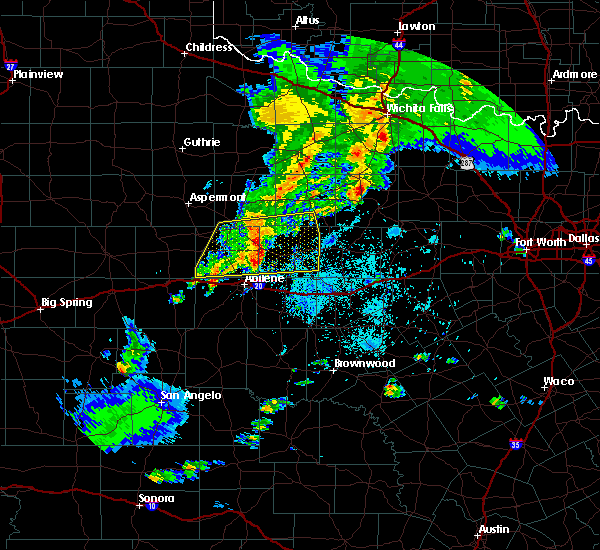 Radar Image for Severe Thunderstorms near Hawley, TX at 3/17/2020 8:26 PM CDT