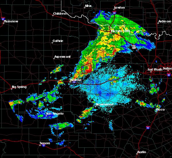 Radar Image for Severe Thunderstorms near Graham, TX at 3/17/2020 9:08 PM CDT
