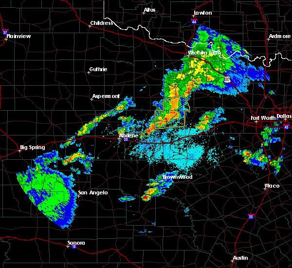 Radar Image for Severe Thunderstorms near Graham, TX at 3/17/2020 9:52 PM CDT