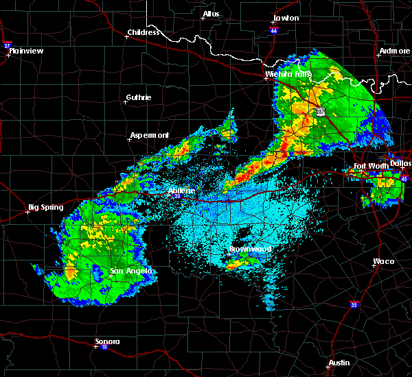Radar Image for Severe Thunderstorms near Mineral Wells, TX at 3/17/2020 10:49 PM CDT