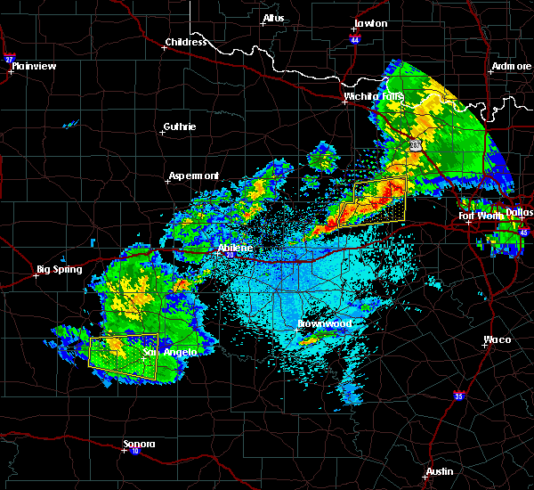 Radar Image for Severe Thunderstorms near Mineral Wells, TX at 3/17/2020 11:12 PM CDT