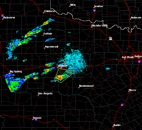 Radar Image for Severe Thunderstorms near Lawn, TX at 3/18/2020 5:19 PM CDT