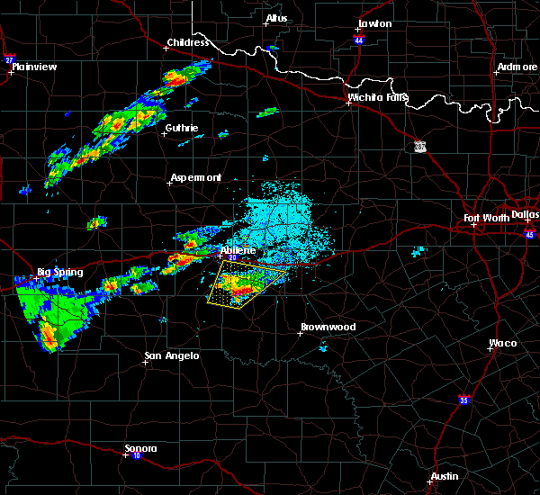 Radar Image for Severe Thunderstorms near Lawn, TX at 3/18/2020 5:25 PM CDT