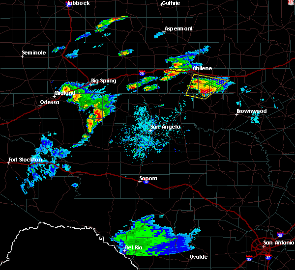 Radar Image for Severe Thunderstorms near Sterling City, TX at 3/18/2020 5:28 PM CDT