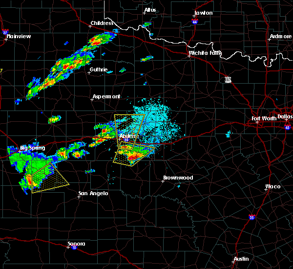 Radar Image for Severe Thunderstorms near Clyde, TX at 3/18/2020 5:36 PM CDT