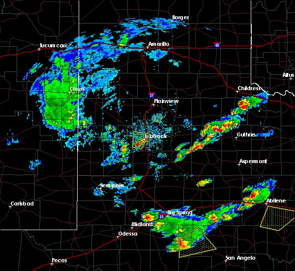 Radar Image for Severe Thunderstorms near Wolfforth, TX at 3/18/2020 5:36 PM CDT
