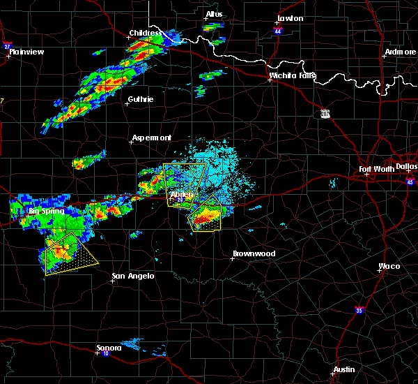 Radar Image for Severe Thunderstorms near Hawley, TX at 3/18/2020 5:51 PM CDT